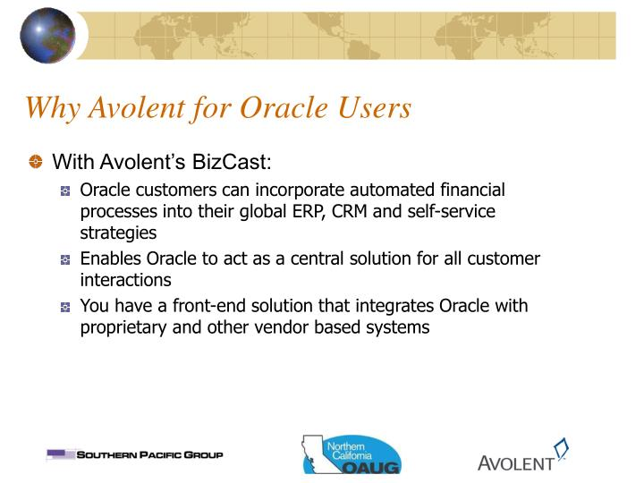 Why Avolent for Oracle Users