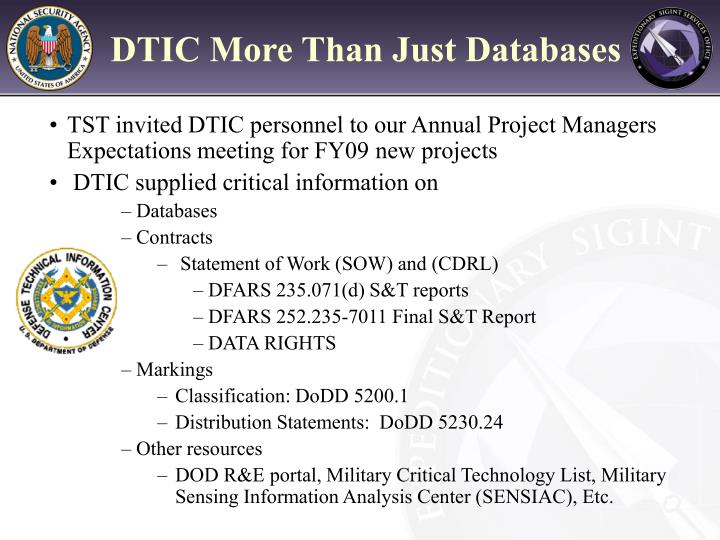 DTIC More Than Just Databases