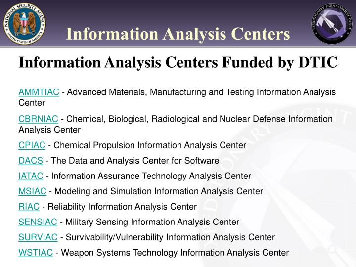 Information Analysis Centers