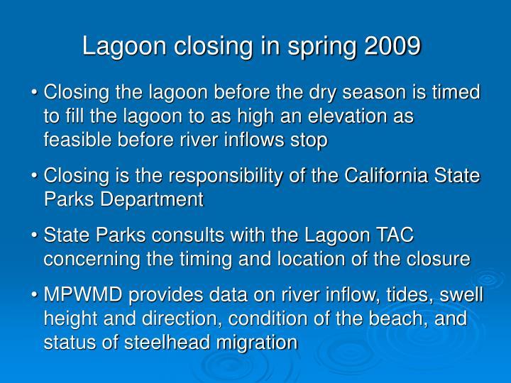 Lagoon closing in spring 2009