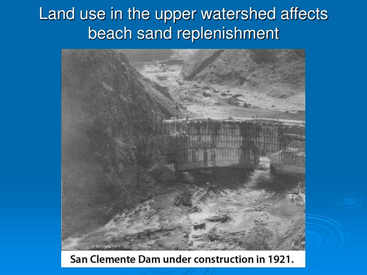 Land use in the upper watershed affects beach sand replenishment