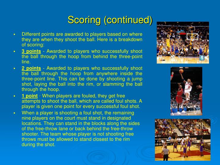 Scoring (continued)