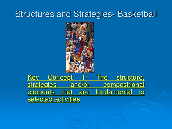 Structures and strategies basketball