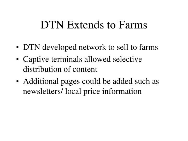DTN Extends to Farms