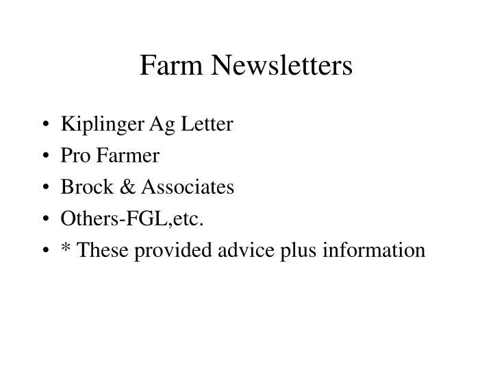 Farm Newsletters