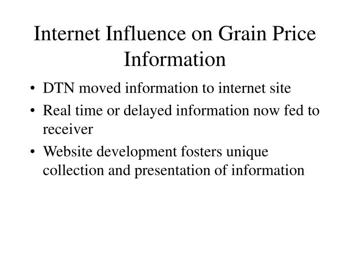 Internet Influence on Grain Price Information