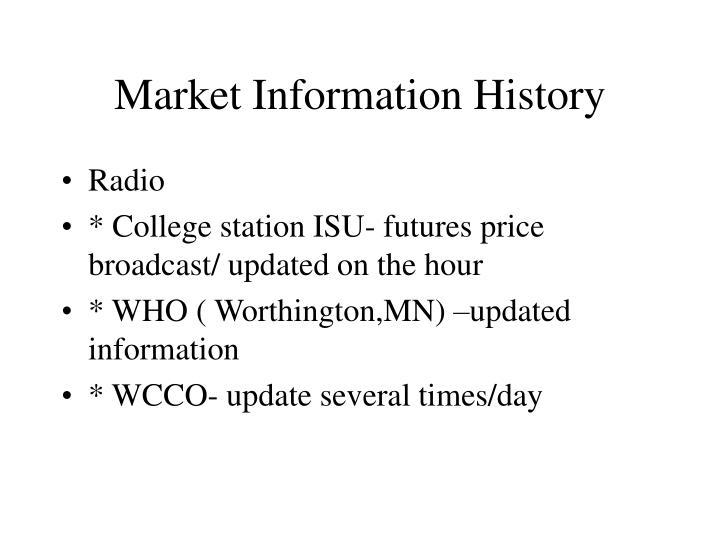 Market Information History