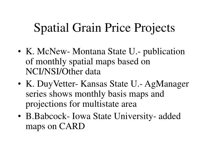 Spatial Grain Price Projects