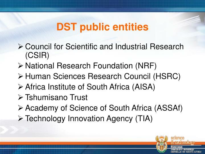 DST public entities