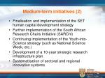 medium term initiatives 2