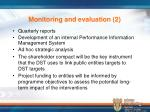 monitoring and evaluation 2