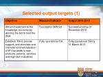 selected output targets 1