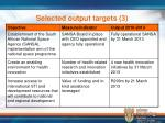 selected output targets 3