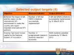 selected output targets 4