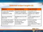 selected output targets 6
