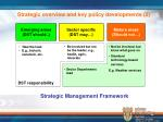 strategic overview and key policy developments 2