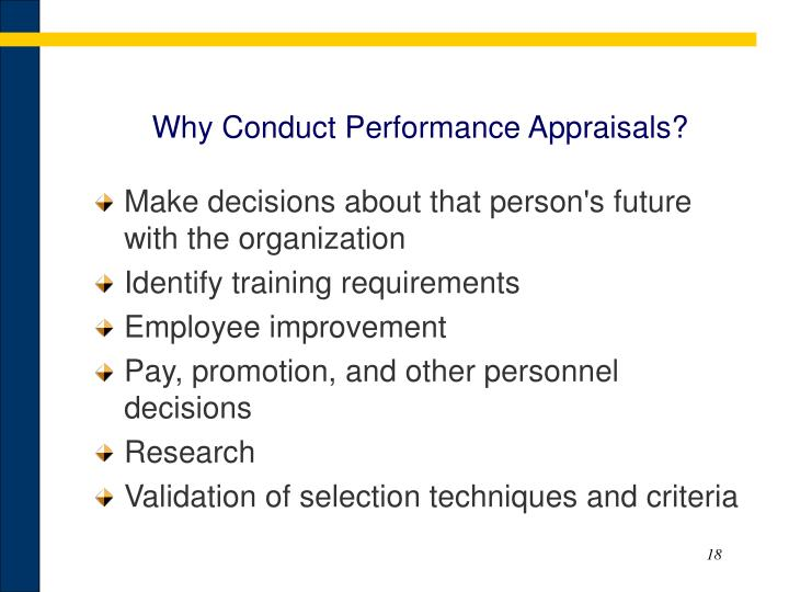Why Conduct Performance Appraisals?
