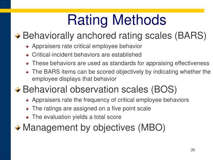 Rating Methods