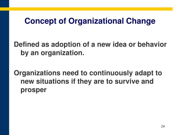 Concept of Organizational Change