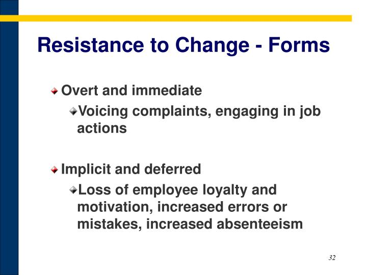 Resistance to Change - Forms