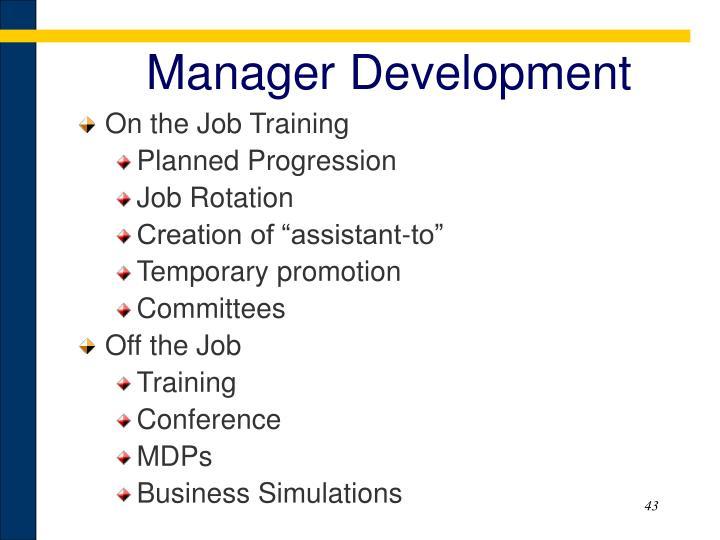 Manager Development