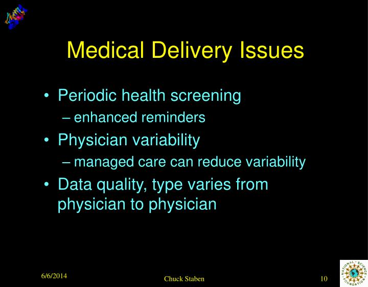 Medical Delivery Issues