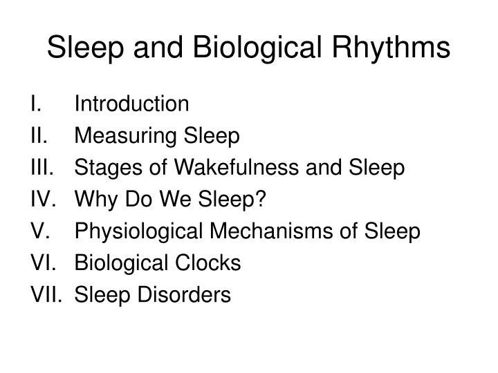 Sleep and Biological Rhythms
