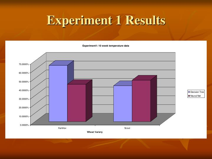 Experiment 1 Results