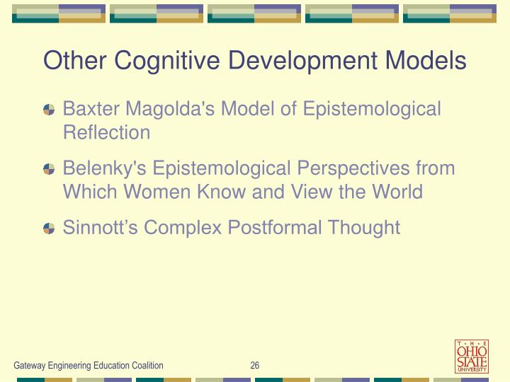 Other Cognitive Development Models