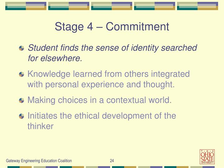 Stage 4 – Commitment