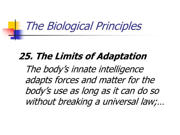 The Biological Principles