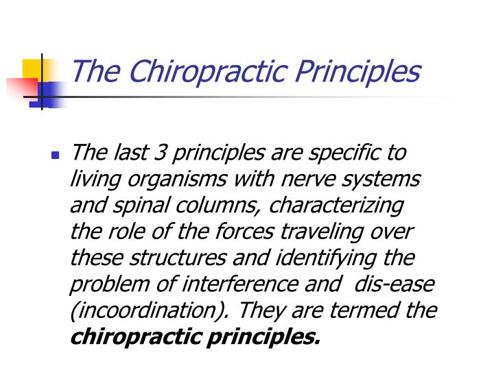 The Chiropractic Principles