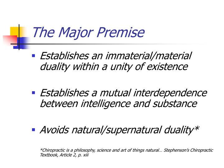 The Major Premise