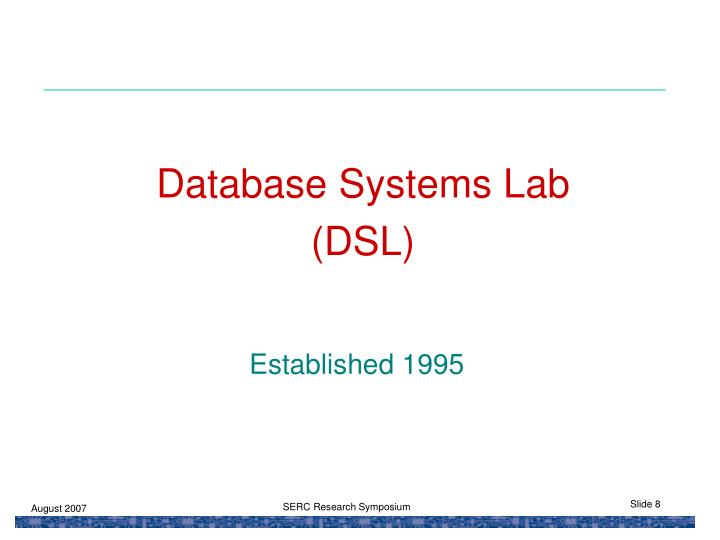 Database Systems Lab