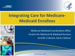 integrating care for medicare medicaid enrollees