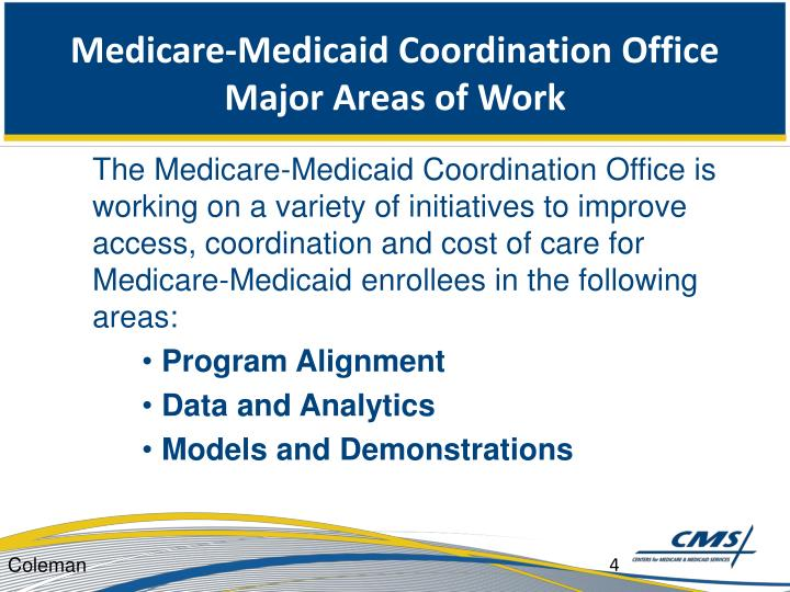 Medicare-Medicaid Coordination Office