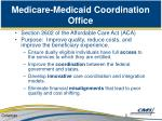 medicare medicaid coordination office