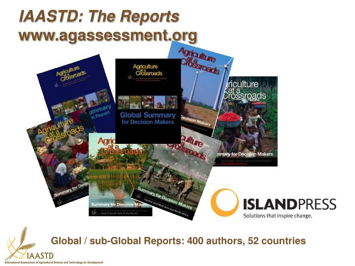 IAASTD: The Reports