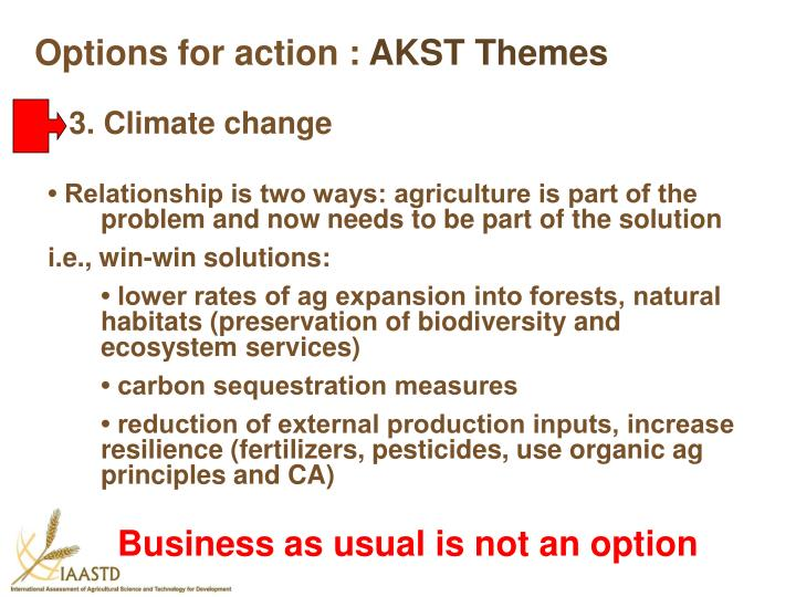 Options for action :