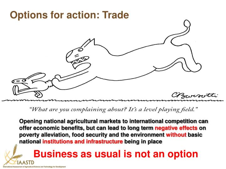 Options for action: Trade