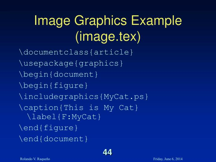 Image Graphics Example