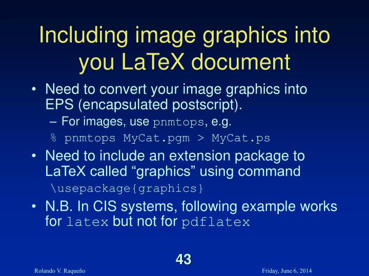 Including image graphics into you LaTeX document