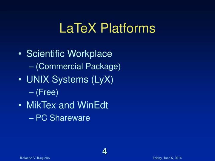 LaTeX Platforms