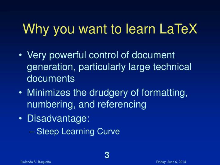 Why you want to learn LaTeX