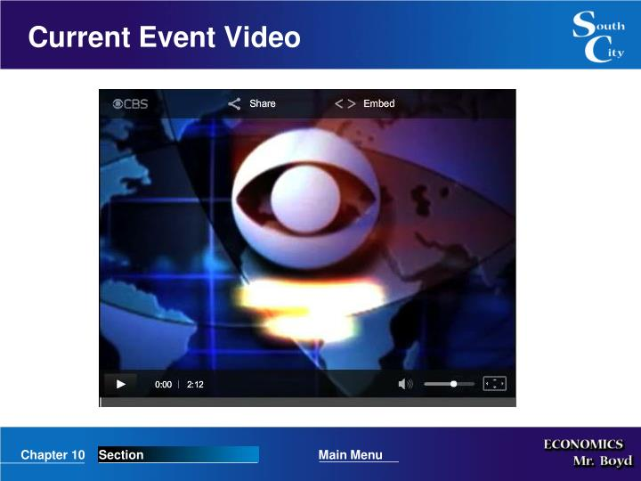 Current Event Video