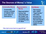 the sources of money s value