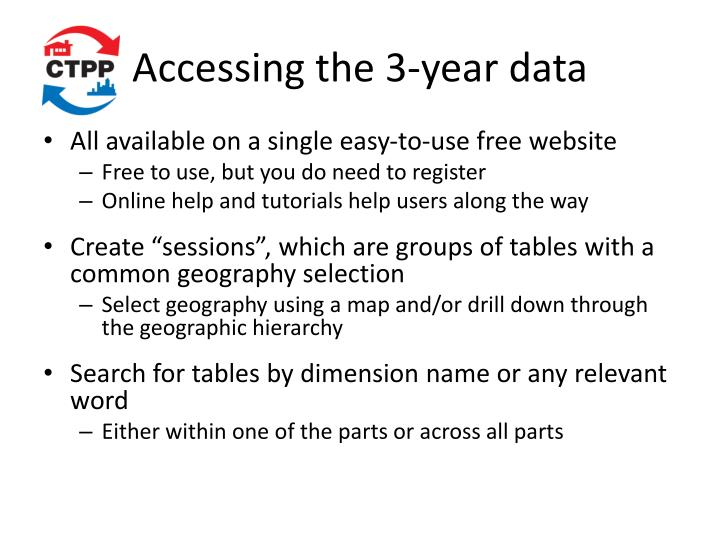 Accessing the 3-year data