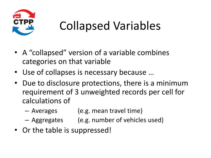 Collapsed Variables