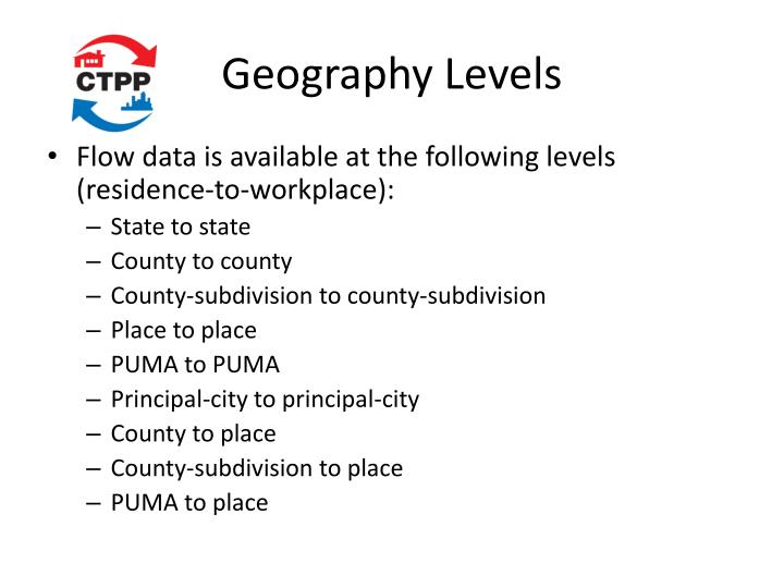 Geography Levels