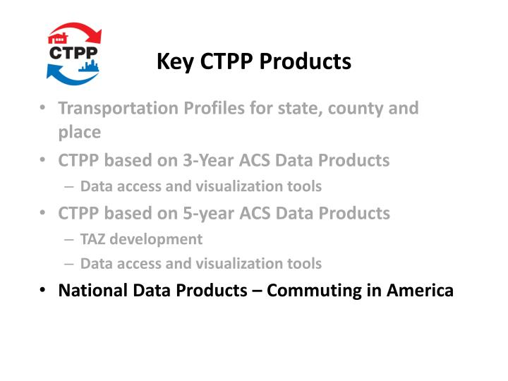 Key CTPP Products